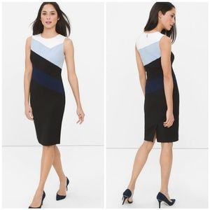 WHBM Sleveless Colorblock Sheath Dress 6